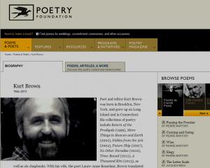Screenshot of Kurt Brown page http://www.poetryfoundation.org/bio/kurt-brown