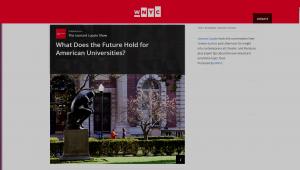 Screenshot: Jonathan Cole on the Future of Universities via WNYC Leonard Lopate   http://bit.ly/20QtduK